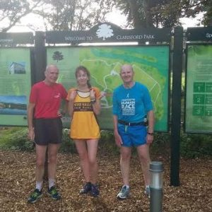 Blimey, Moira, you dont hang around. A 5k course and she's bagged herself two new men. Crikey.